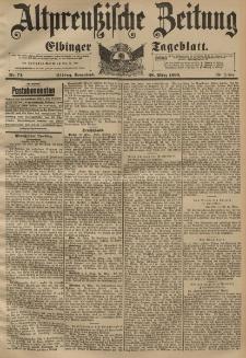 Altpreussische Zeitung, Nr. 75 Sonnabend 28 März 1896, 48. Jahrgang