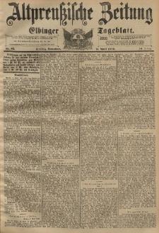 Altpreussische Zeitung, Nr. 85 Sonnabend 11 April 1896, 48. Jahrgang