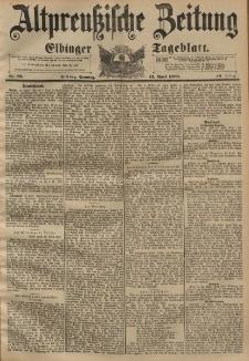 Altpreussische Zeitung, Nr. 86 Sonntag 12 April 1896, 48. Jahrgang