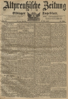 Altpreussische Zeitung, Nr. 115 Sonntag 17 Mai 1896, 48. Jahrgang