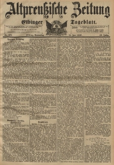 Altpreussische Zeitung, Nr. 135 Donnerstag 11 Juni 1896, 48. Jahrgang