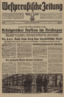 Westpreussische Zeitung, Nr. 242 Montag 14 Oktober 1940, 9. Jahrgang